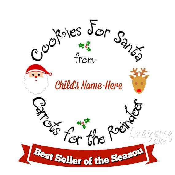 Cookies for Santa Christmas Plate svg Christmas Cookies svg Cookies.