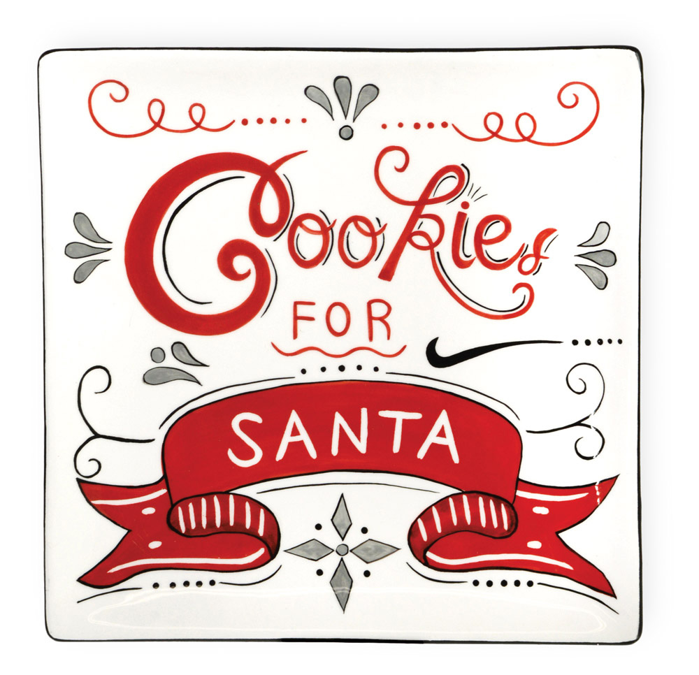 Cookies for Santa Plate.