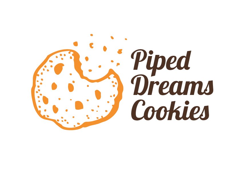 Bakery Logo Design for piped dreams cookies by Diseno Advertising.
