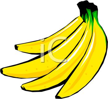 Picture of a Bunch of Bright Yellow Bananas On a White Background.