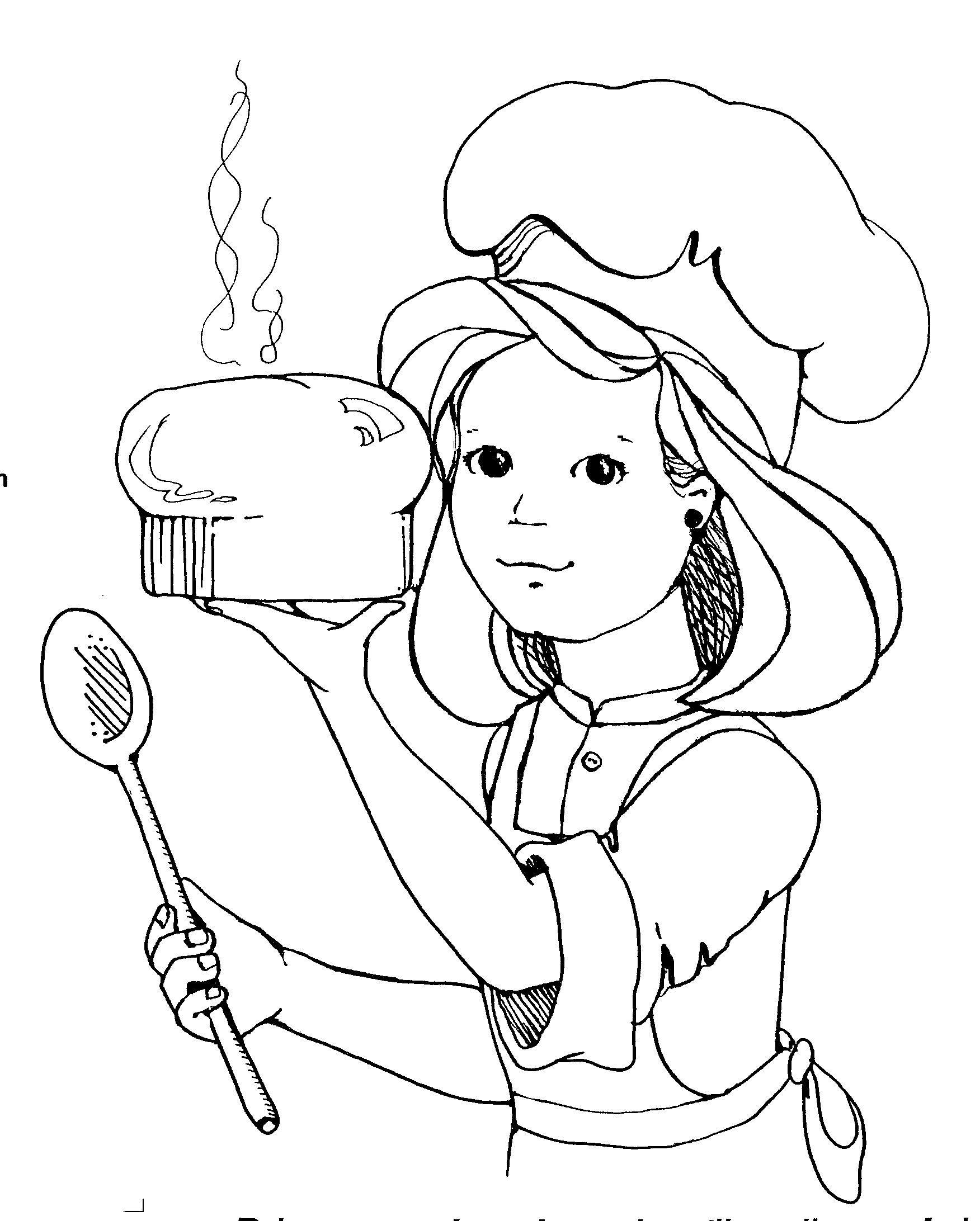 Woman Cooking Clipart Black And White.