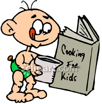 Clipart for recipe book for kids.