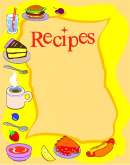 Clipart for recipe book.