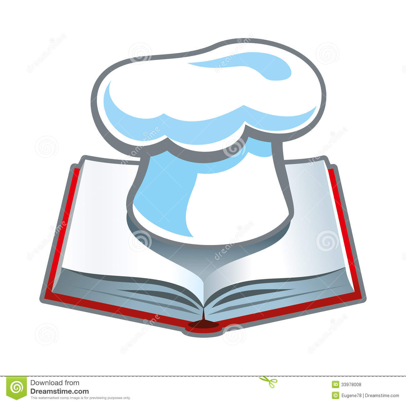 Recipe Cookbook Clipart.