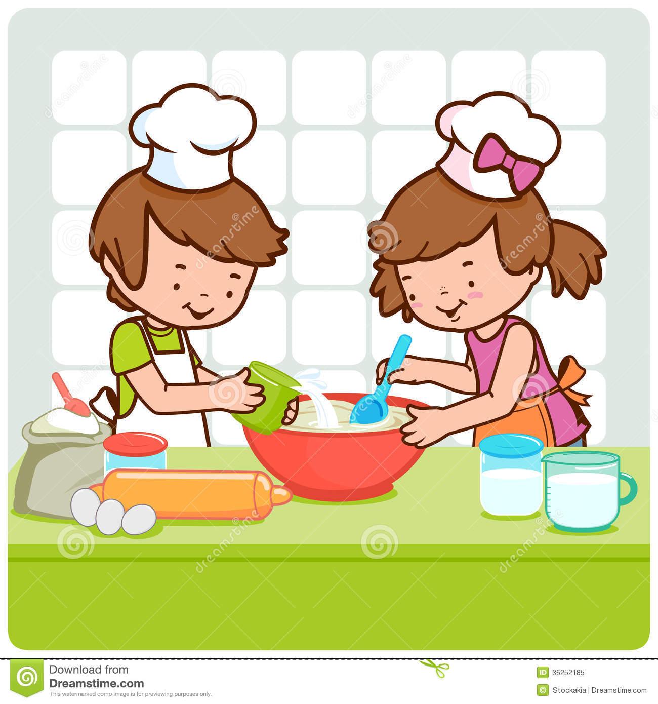 clipart children cooking #18