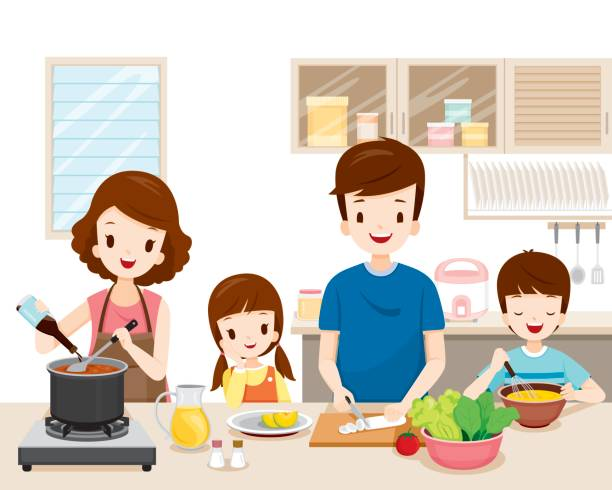 Best Mom Cooking Illustrations, Royalty.