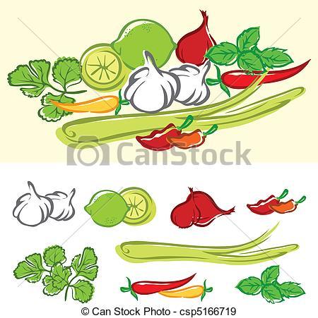 EPS Vectors of Fresh Cooking Ingredients csp5166719.
