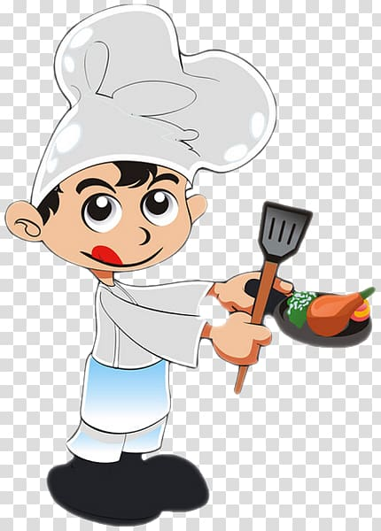 Chef Cartoon Cook, Cooking kids transparent background PNG.