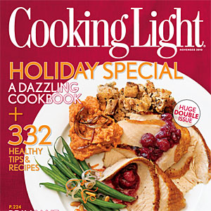 Cooking Light Magazine: November 2010 Issue.
