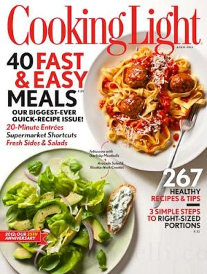 Cooking Light Magazine 2016.