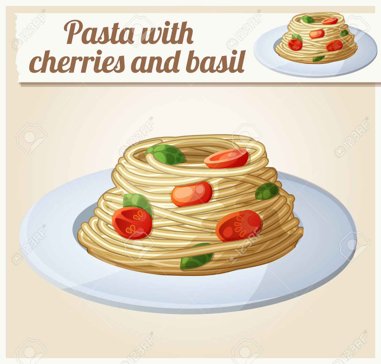 Spaghetti With Tomato Cherries And Meatballs. Series Of Food.