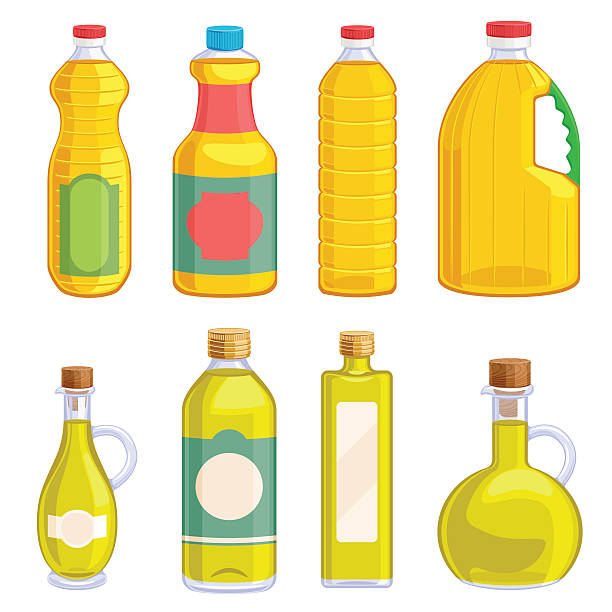 Best Cooking With Oil Illustrations, Royalty.