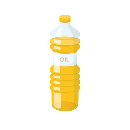 Cooking Oil Bottle premium clipart.