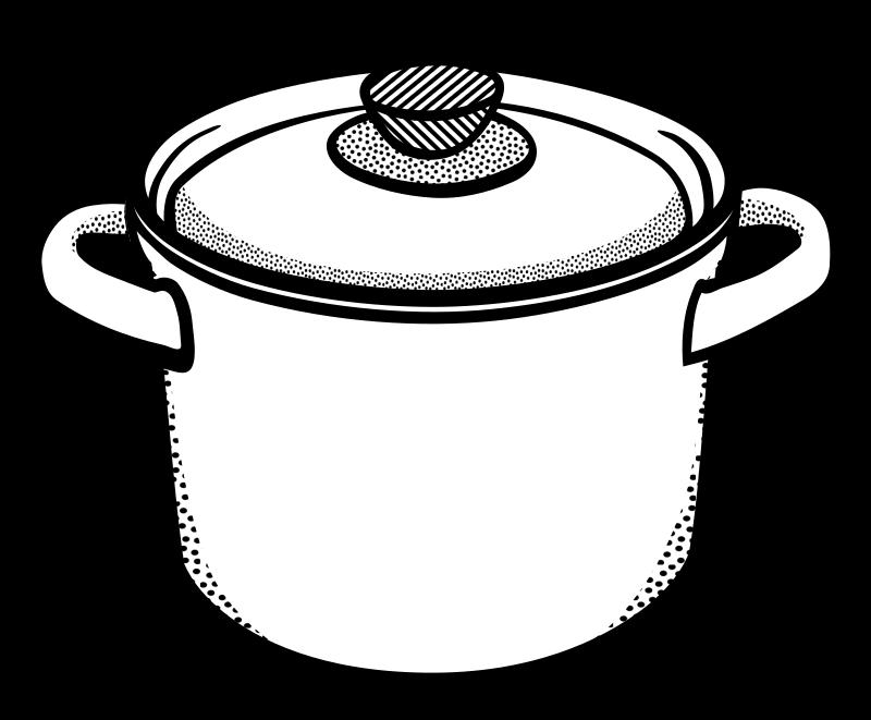 Cooking pot clipart outline.