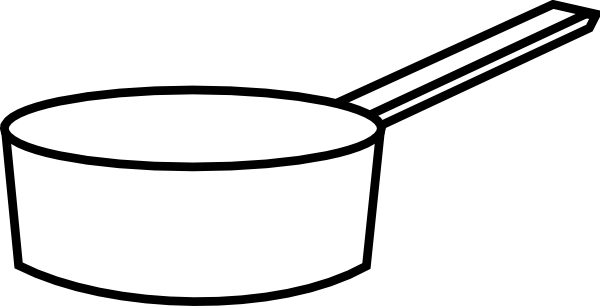 Cooking pot clipart outline.
