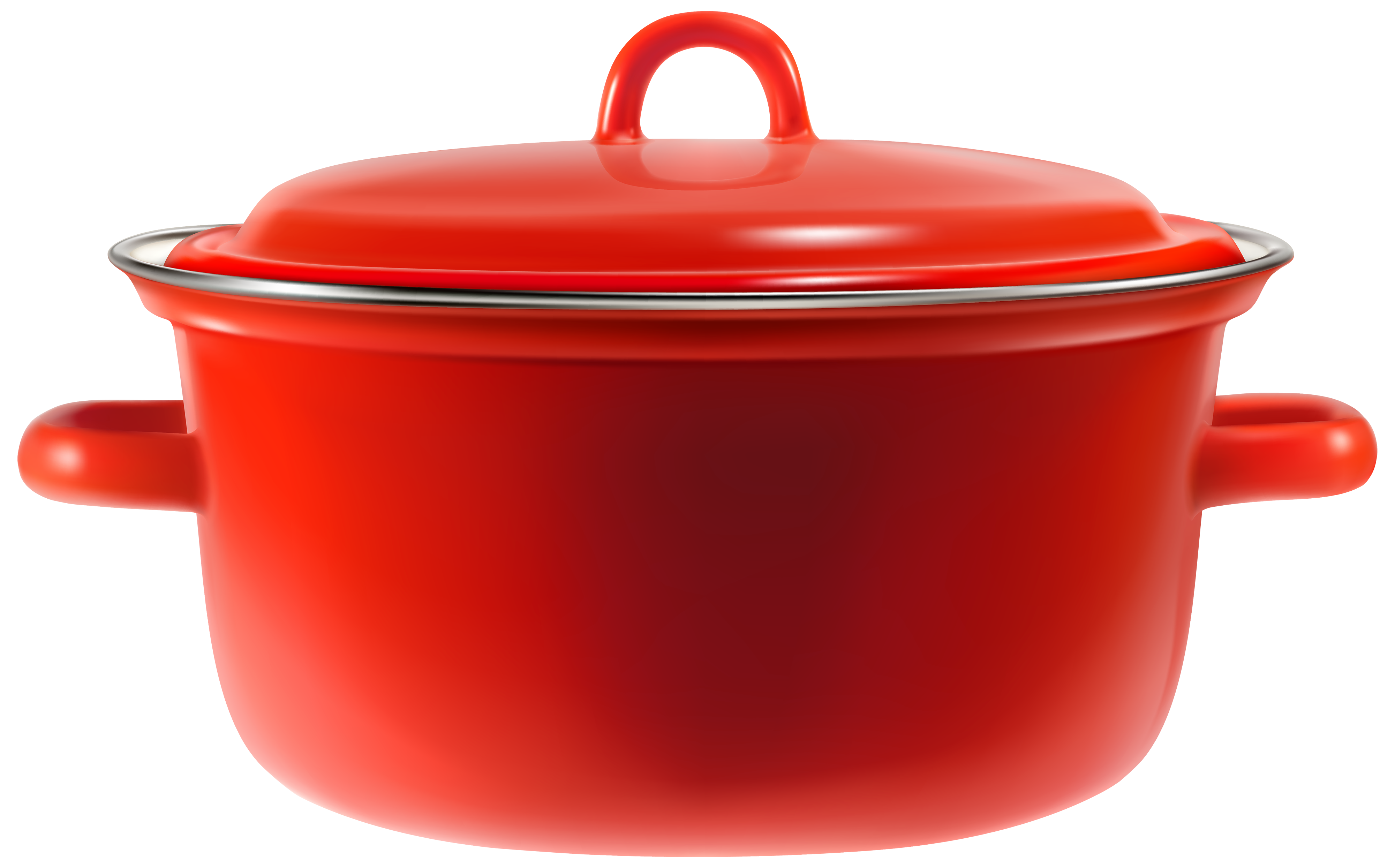Red cooking pot clipart web.