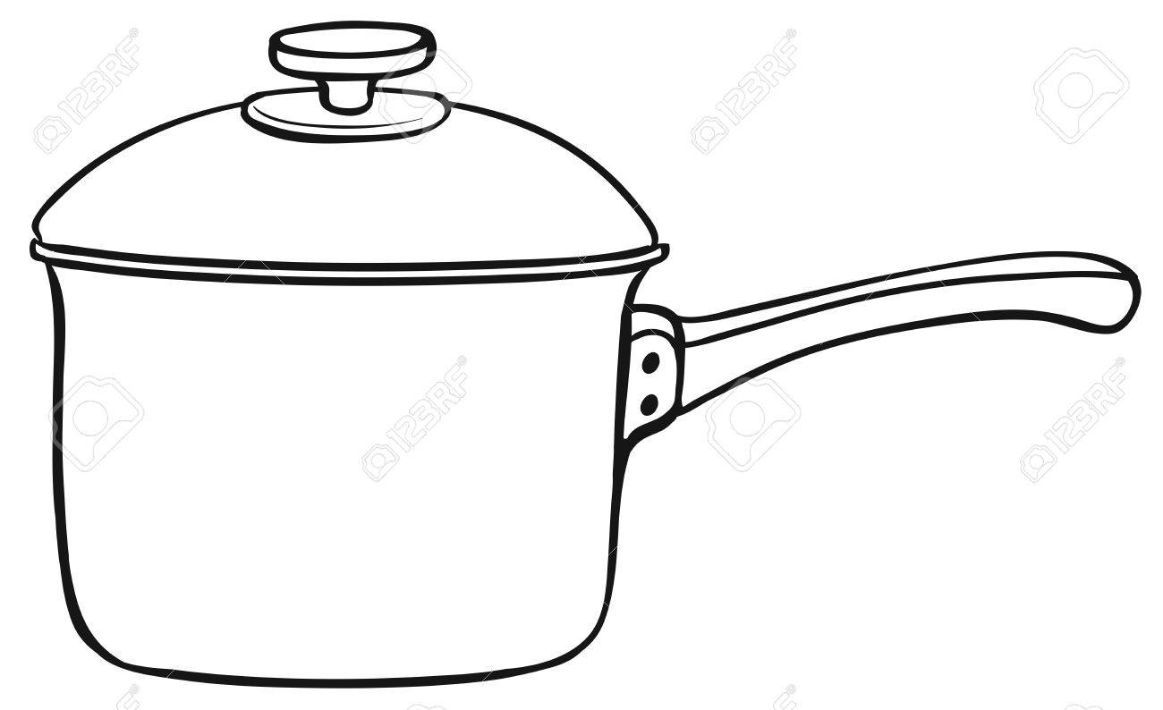 Cooking Pot Clipart Black And White.