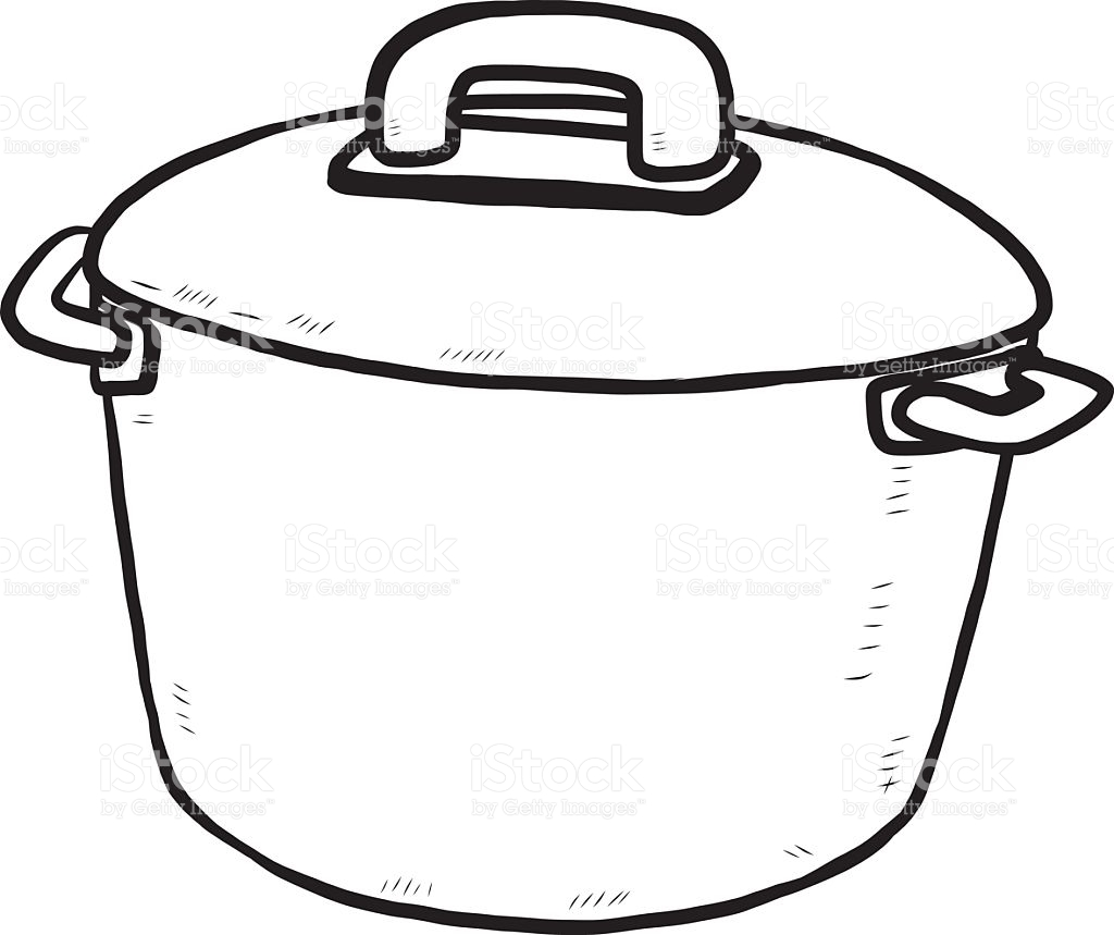 Pot Clipart Black And White.