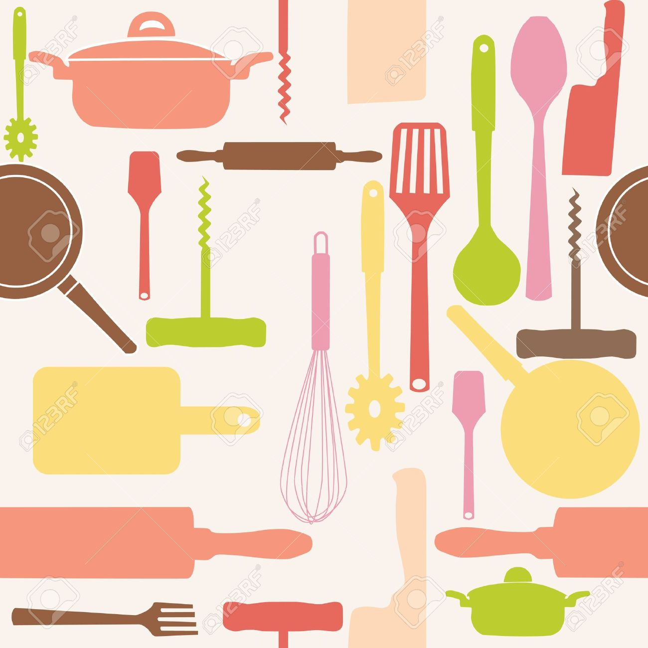 Cooking tools clipart.