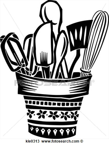 Clip Art Cooking Utensils Clipart.