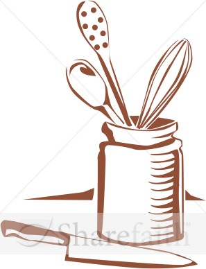 Border Kitchen Utensils Clipart.