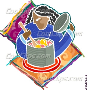 cooking up ideas Vector Clip art.