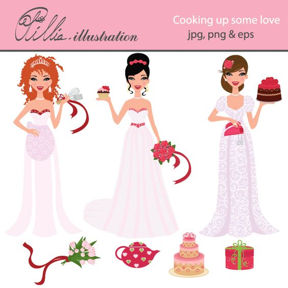This cute Cooking up some love set comes with 7 cliparts including.