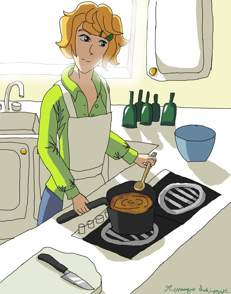 Cooking Up a Storm by TomoyoIchijouji on DeviantArt.