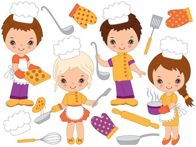 70% OFF SALE Baking Kids Clipart.