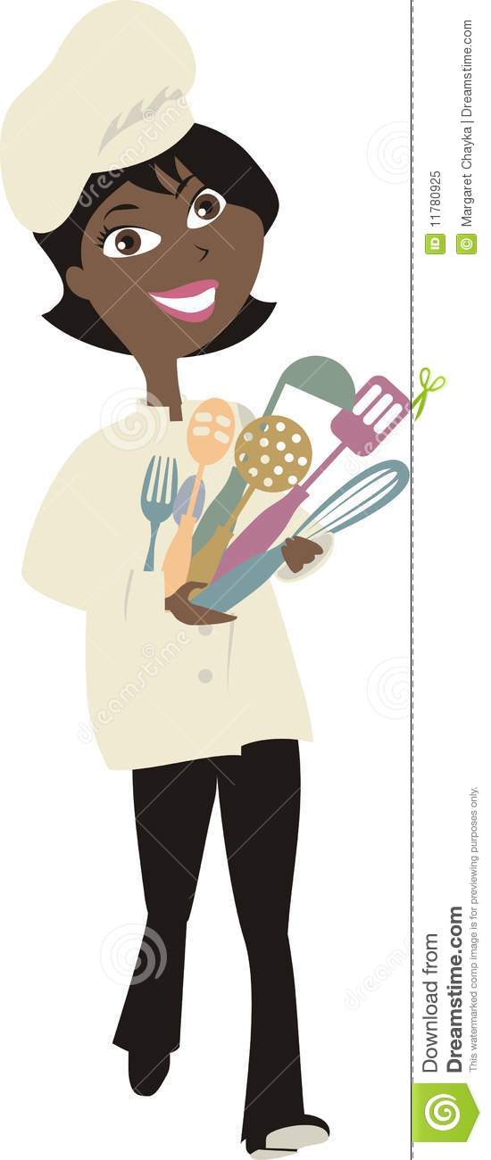 Make meme with African American Woman Cooking Clipart.