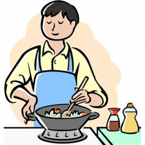 Mom Cooking Clipart.