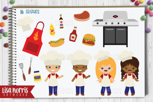 Cookout Clip Art Graphics & SVG Cutting Files.