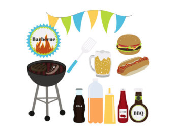 Cookout Borders Clipart.
