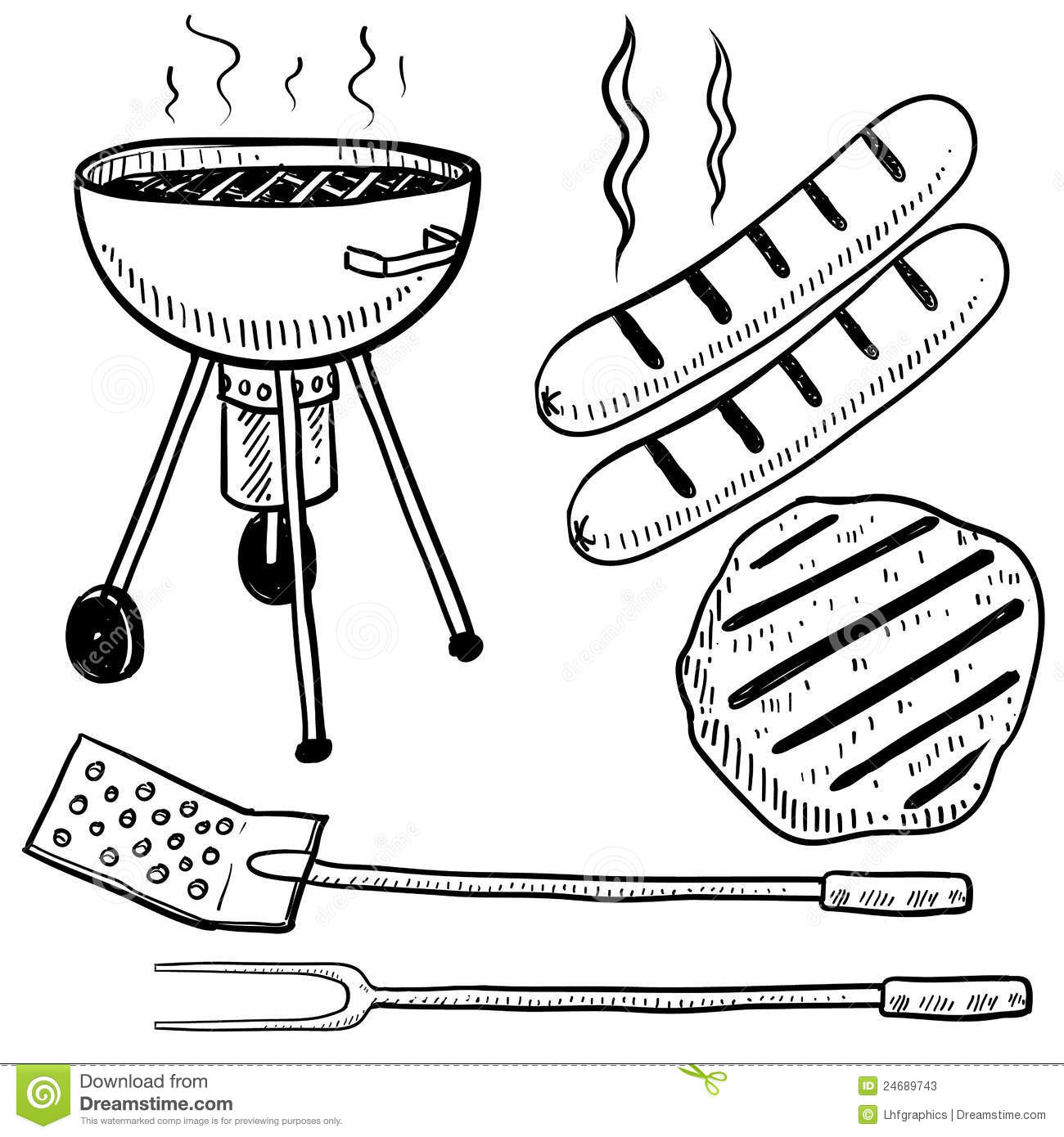 Cookout clipart black and white, Cookout black and white.