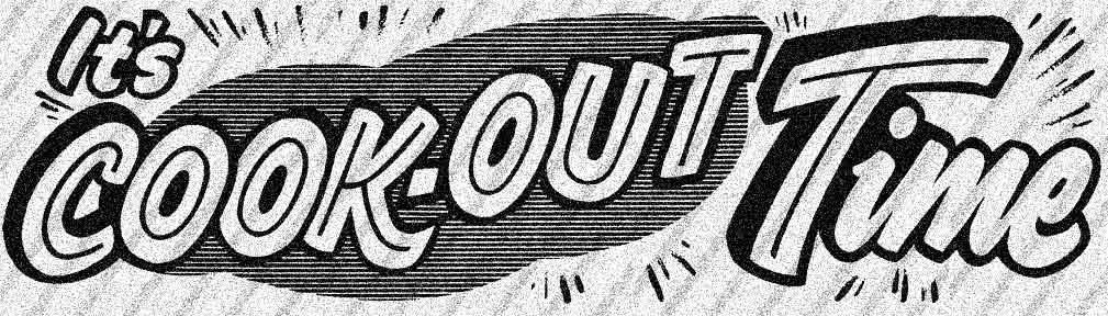 7 images of cookout borders clip art black.