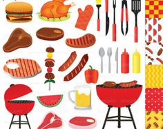 Party Clipart Backyard BBQ Clip Art Cooking Printable