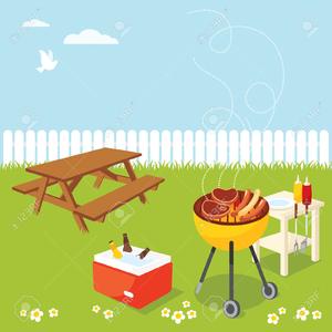 Backyard Cookout Clipart.