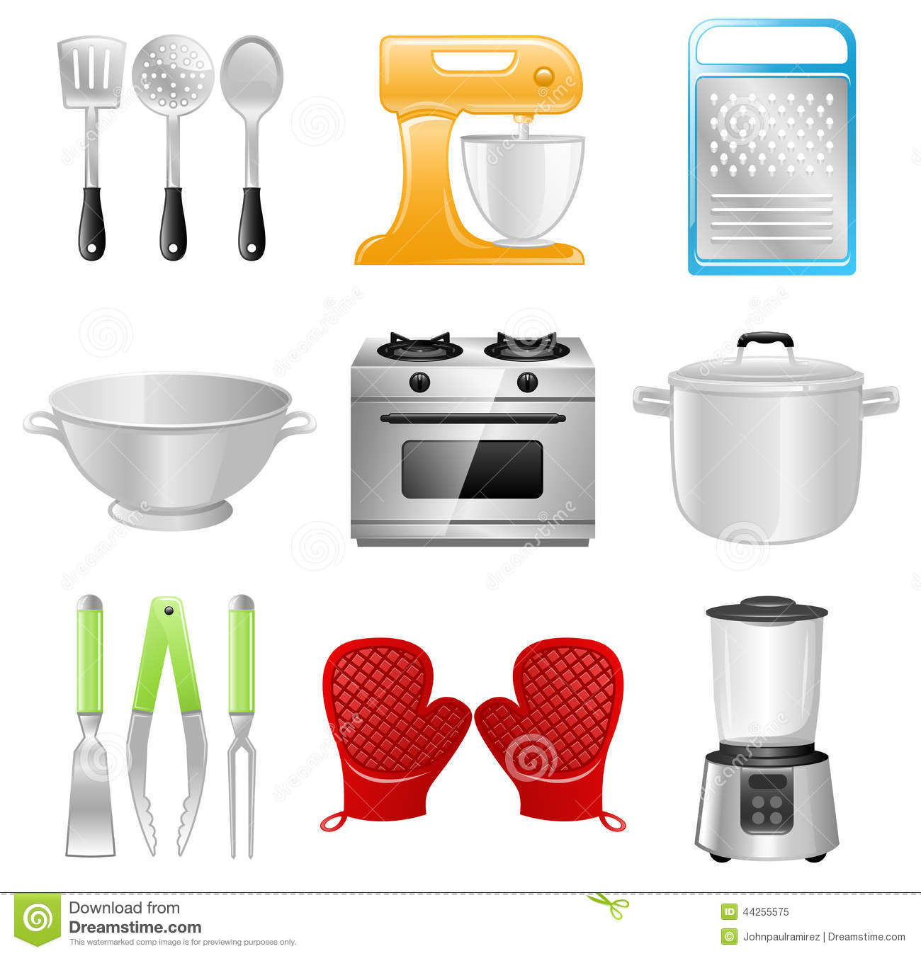 Stunning List Of Kitchen Utensils And Appliances.