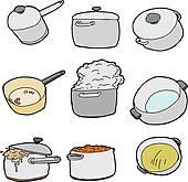 Cookware Clipart Vector Graphics. 3,048 cookware EPS clip art.