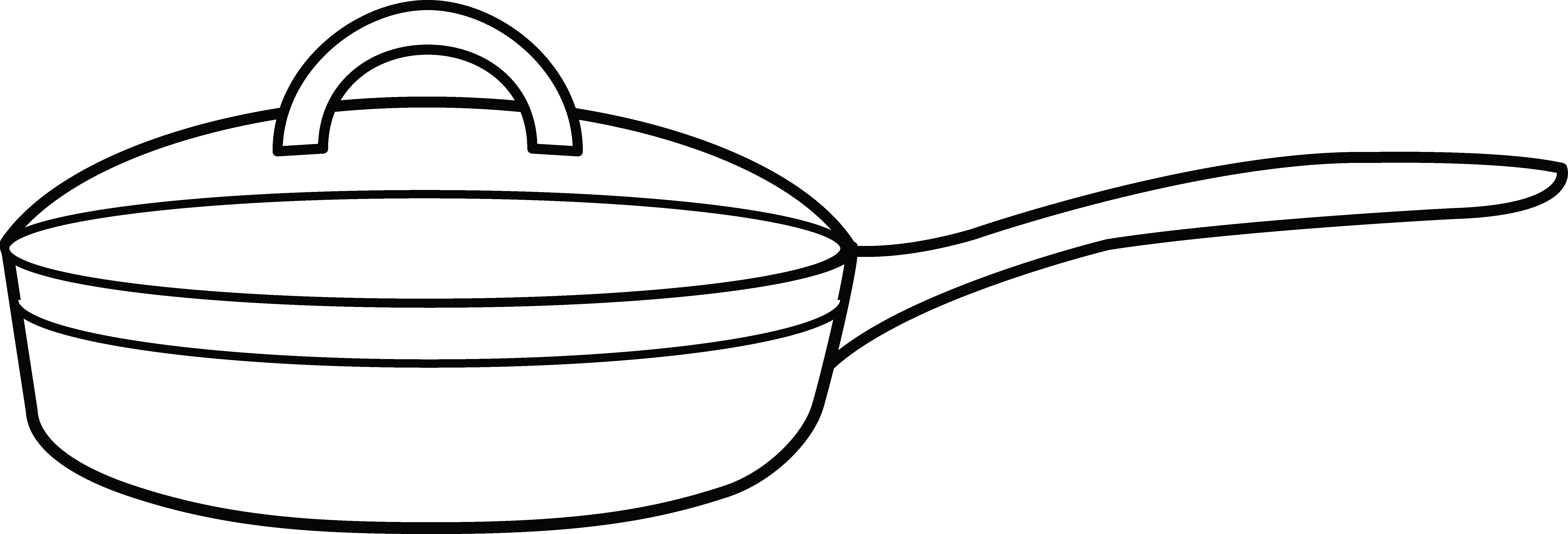 Frying Pan Coloring Page.