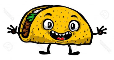 Printable Taco Clipart Funny Animated Sheets.