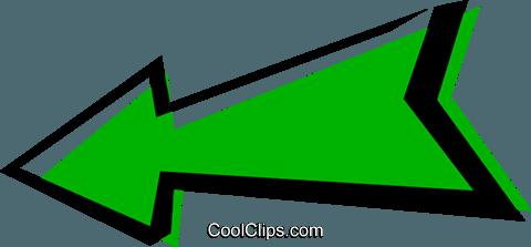 Cool arrows Royalty Free Vector Clip Art illustration.