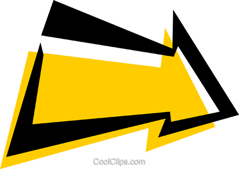 Cool arrow Royalty Free Vector Clip Art illustration.