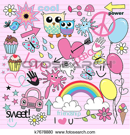 Clipart of cool background k7678880.