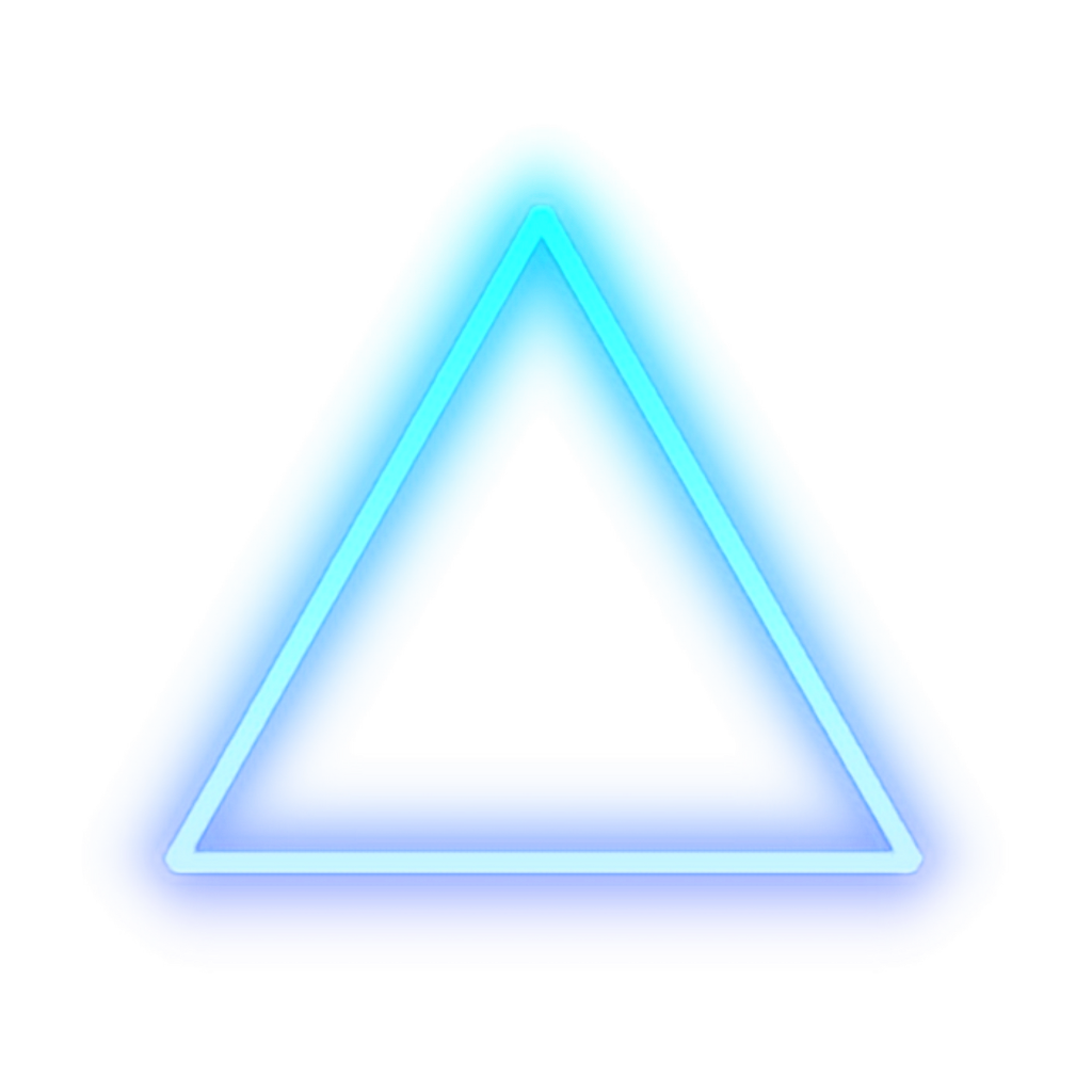 Discover the coolest #triangle #blue #glow #light #shape #cool.
