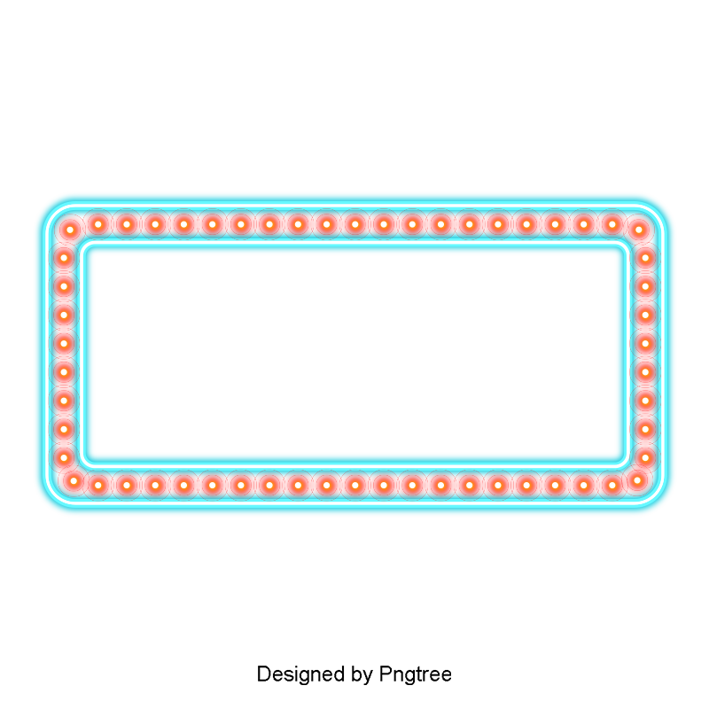 Cool Blue Border, Blue, Cool, Light Effect PNG and Vector with.