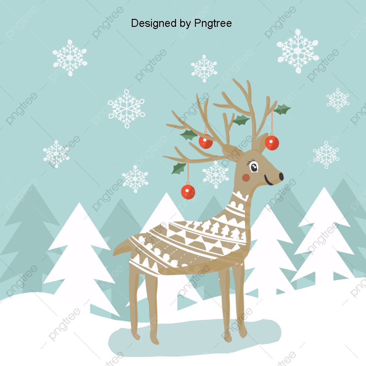 Cool Christmas Decoration Vector Pattern, Cool, Light Effect.
