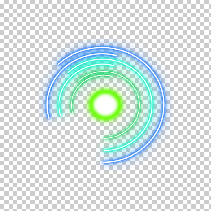 Circle Graphic design Blue Computer file, Cool Round, green.