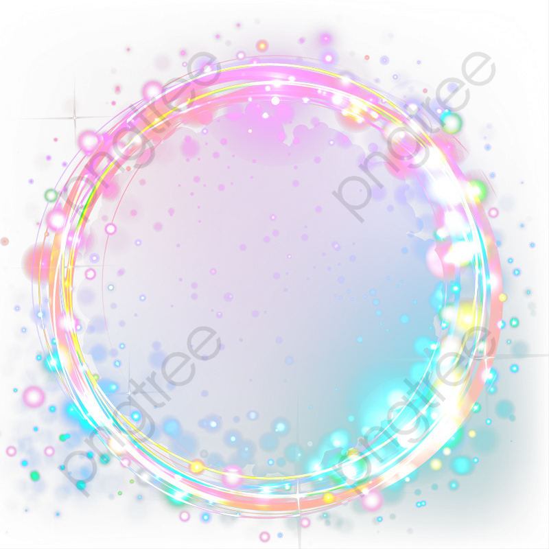 Beautiful Color Cool Title Box, Color Clipart, Cool Circle.