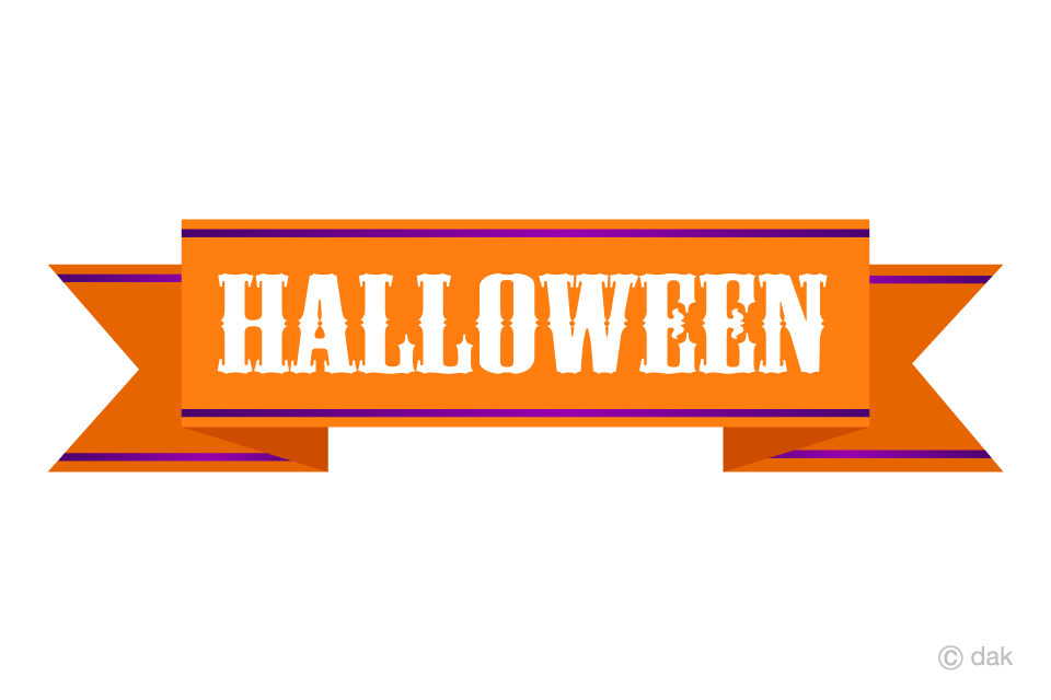 Free Cool Halloween Ribbon Clipart Image|Illustoon.